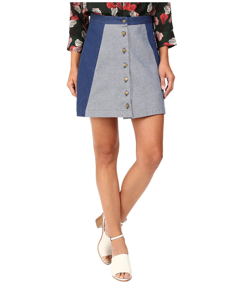 Rachel Antonoff - Charlie Mini Skirt (Denim Blue) Women's Skirt
