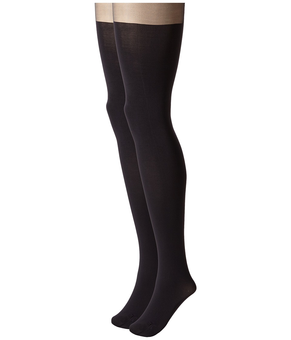 Pretty Polly - Suspender Shaper Tights (Black) Hose