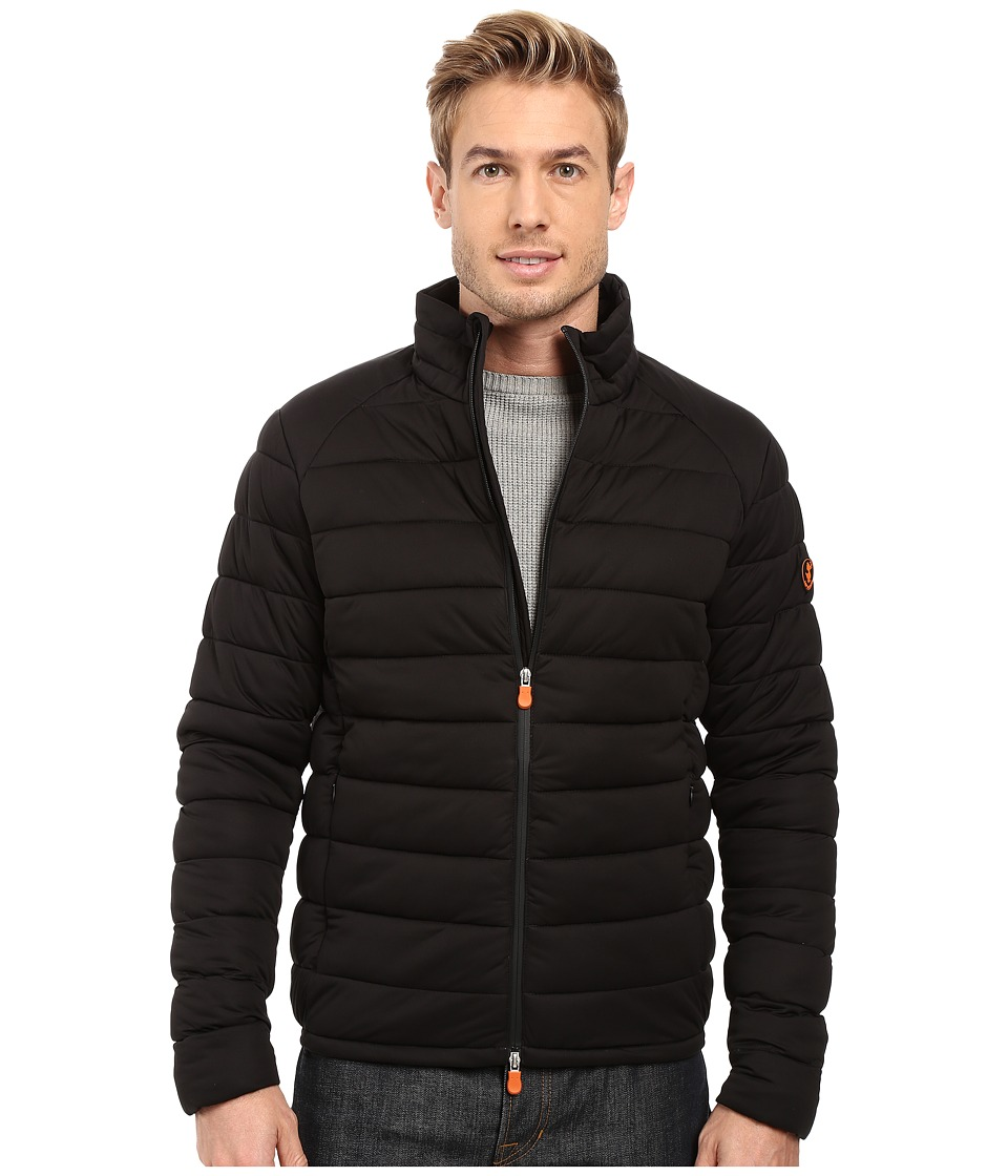 Save the Duck - Solid Stretch Puffer Jacket (Black) Men's Coat