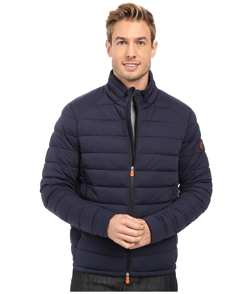 Save the Duck - Puffer Stretch Jacket (Navy Melange) Men's Coat