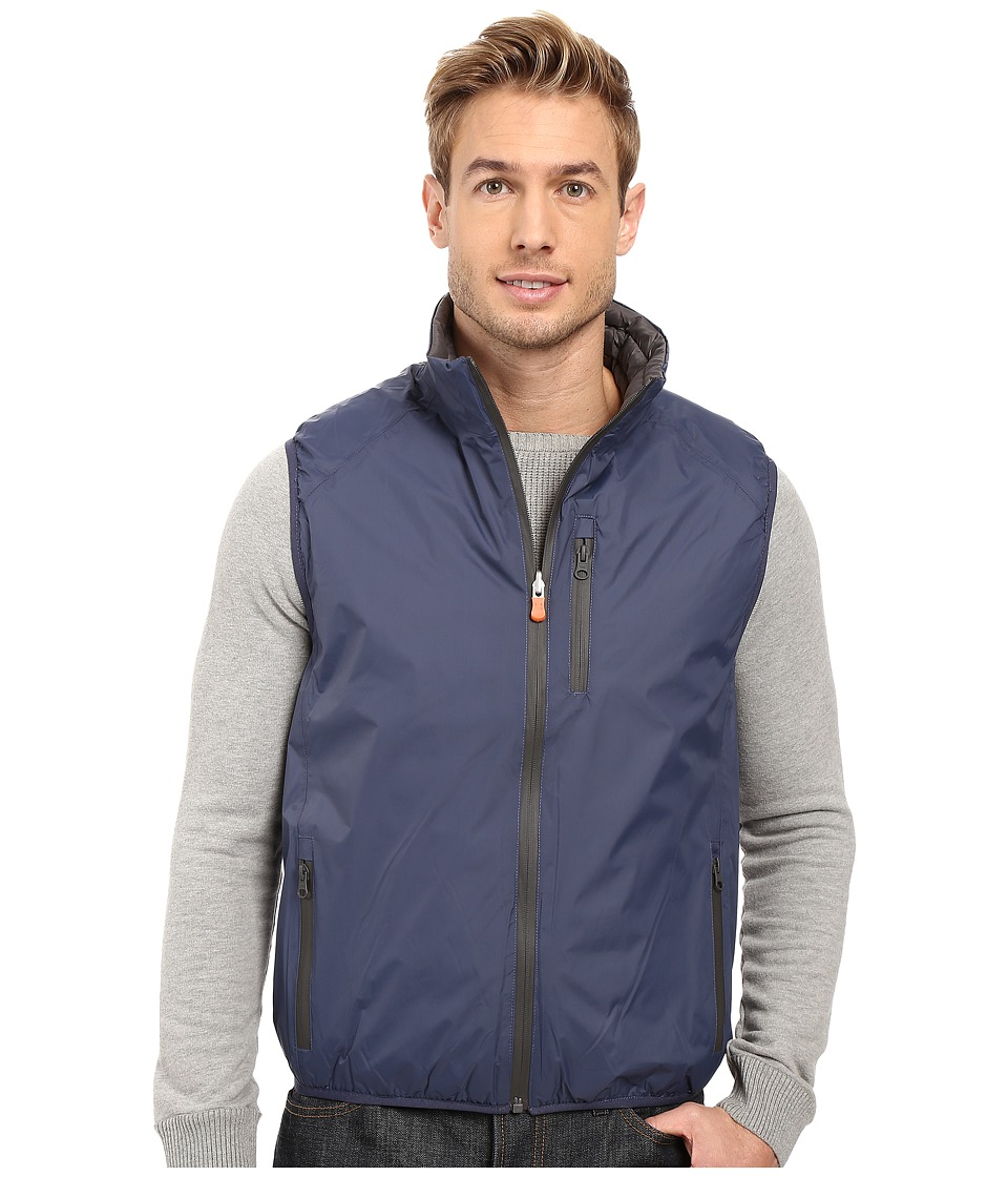 Save the Duck - Milk Reversible Vest (Black/Eclipse Blue) Men's Vest