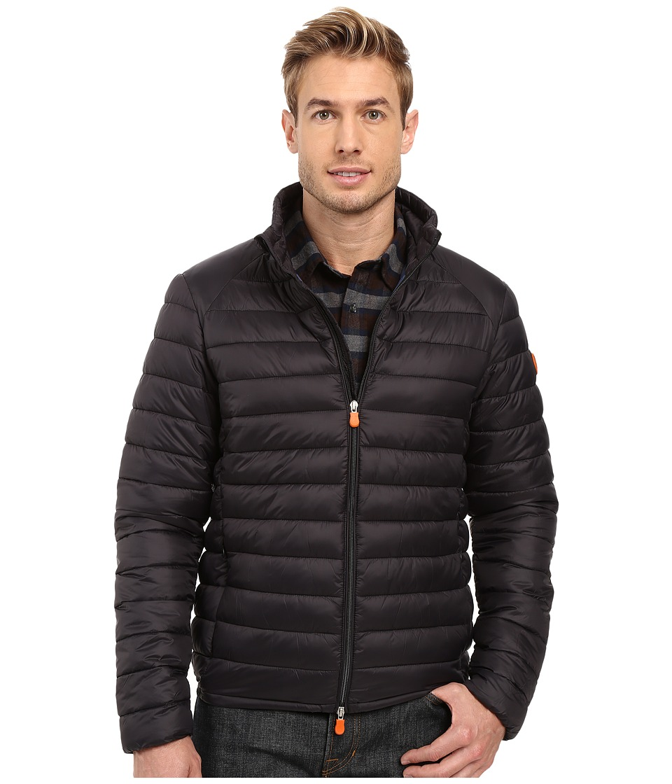 Save the Duck - Lightweight Puffer Jacket (Black) Men's Coat