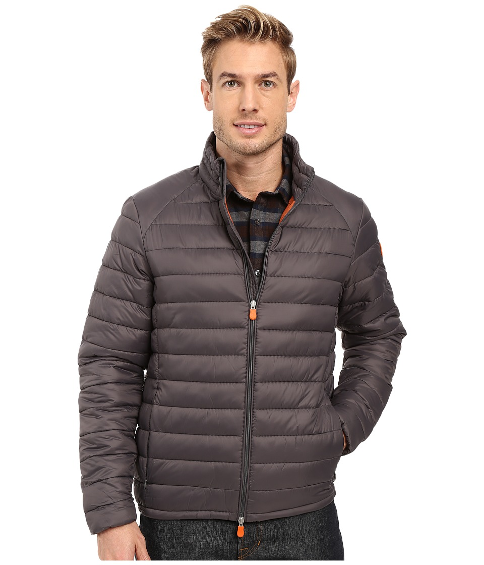 Save the Duck - Lightweight Puffer Jacket (Charcoal Grey) Men's Coat