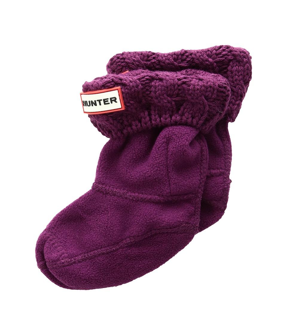 Hunter Kids - 6 Stitch Cable Boot Sock (Toddler/Little Kid/Big Kid) (Bright Violet) Girls Shoes