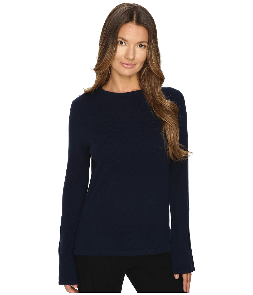 Cashmere In Love - Texas Long Slit Sleeves Pullover (Midnight Blue) Women's Long Sleeve Pullover
