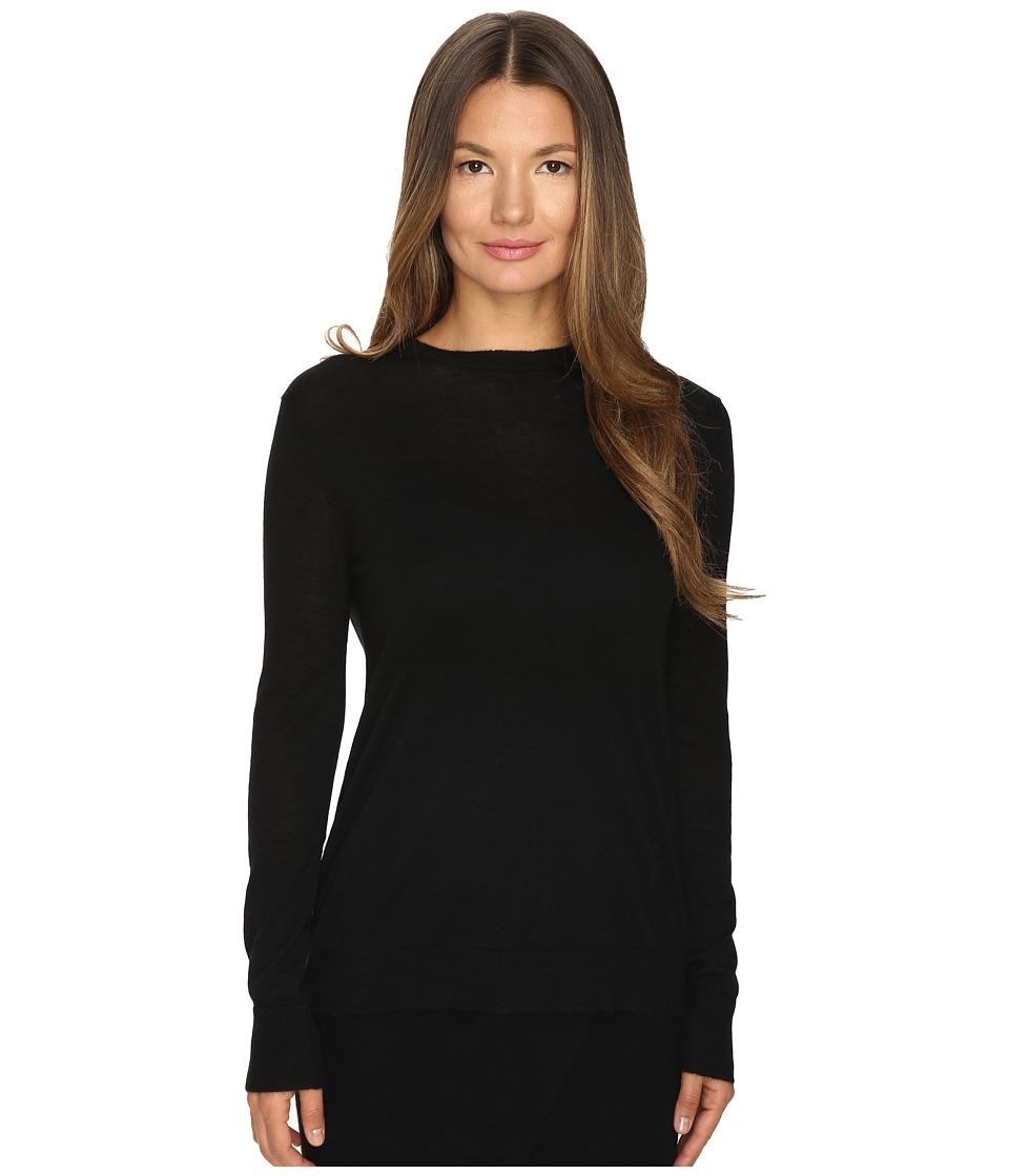 Cashmere In Love - Sherah Open Back Light Pullover (Black) Women's Long Sleeve Pullover