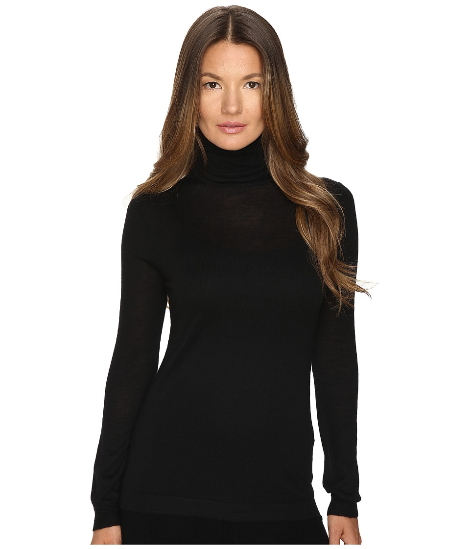 Cashmere In Love - Shayne Turtleneck Pullover (Black) Women's Long Sleeve Pullover