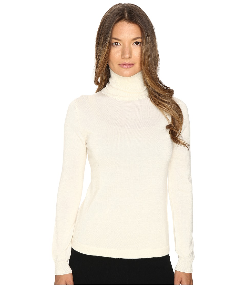 Cashmere In Love - Shayne Turtleneck Pullover (Off-White) Women's Long Sleeve Pullover