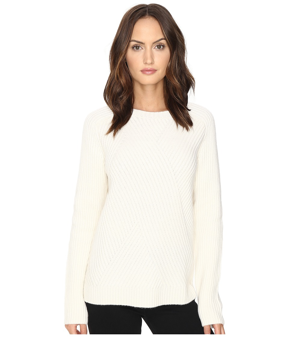 Cashmere In Love - Tabitha Ribbed Pattern Pullover (Chalk) Women's Long Sleeve Pullover