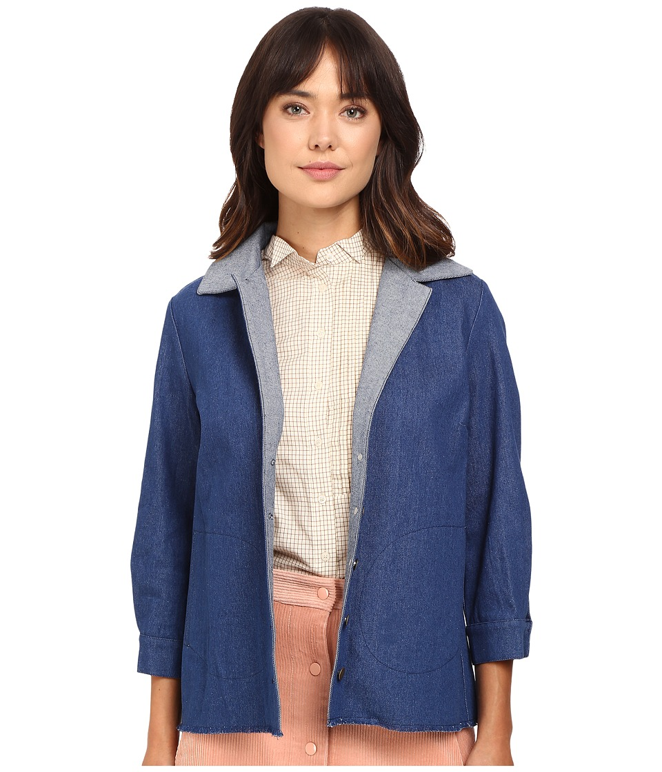Rachel Antonoff - Kari Jacket (Blue) Women's Coat