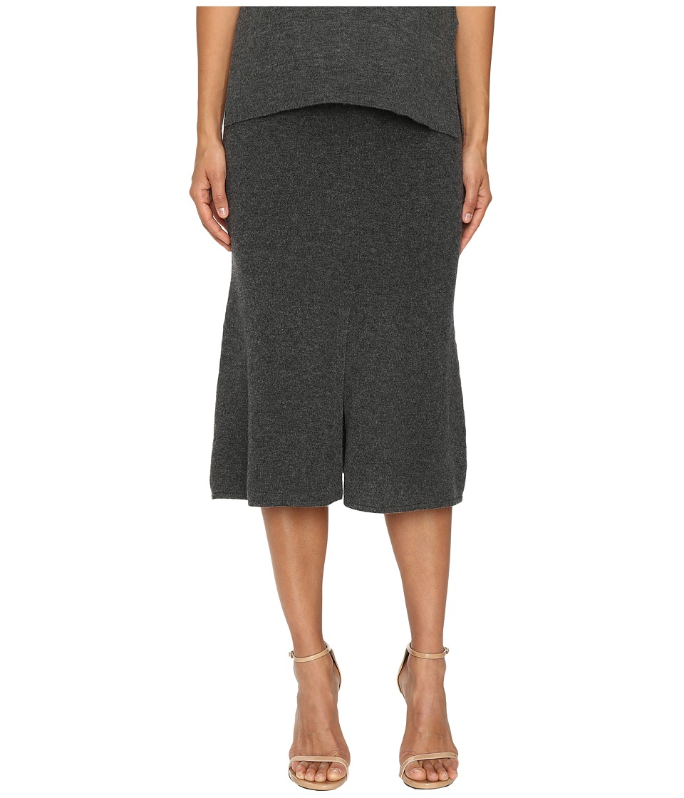 Cashmere In Love - Tish Knit Skirt (Grey) Women's Skirt