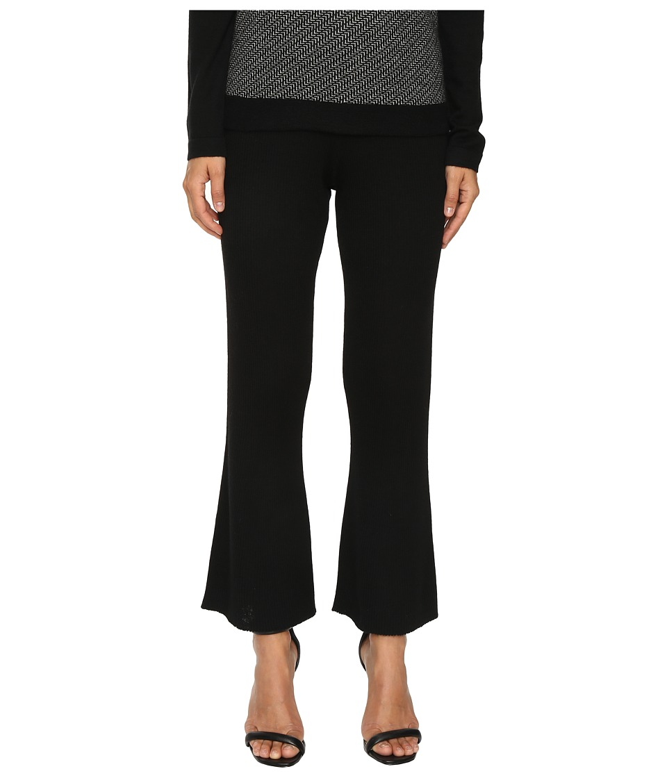 Cashmere In Love - Tereza Ribbed Knit Pants (Black) Women's Casual Pants