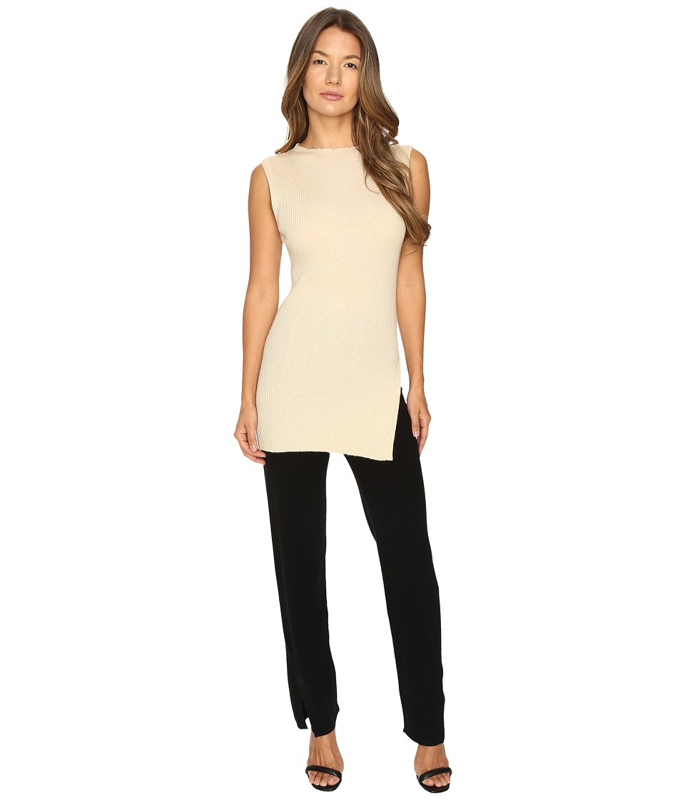 Cashmere In Love - Tori Ribbed Tunic (Beige) Women's Clothing