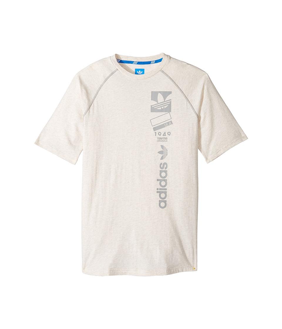 adidas Originals Kids - Future Linear (Little Kids/Big Kids) (Chalk White Melange) Boy's T Shirt