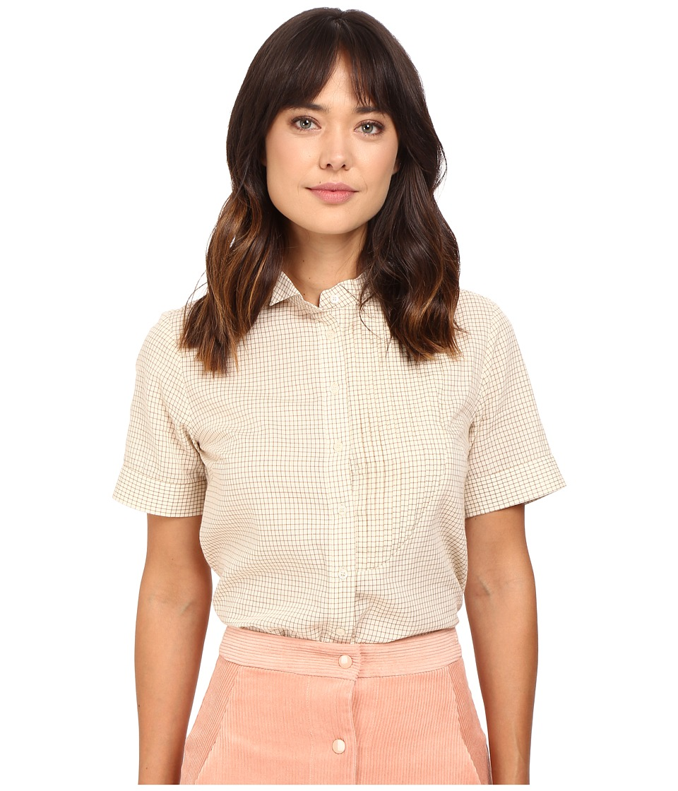 Rachel Antonoff - Dazzle Tuxedo Top (Cream) Women's Clothing