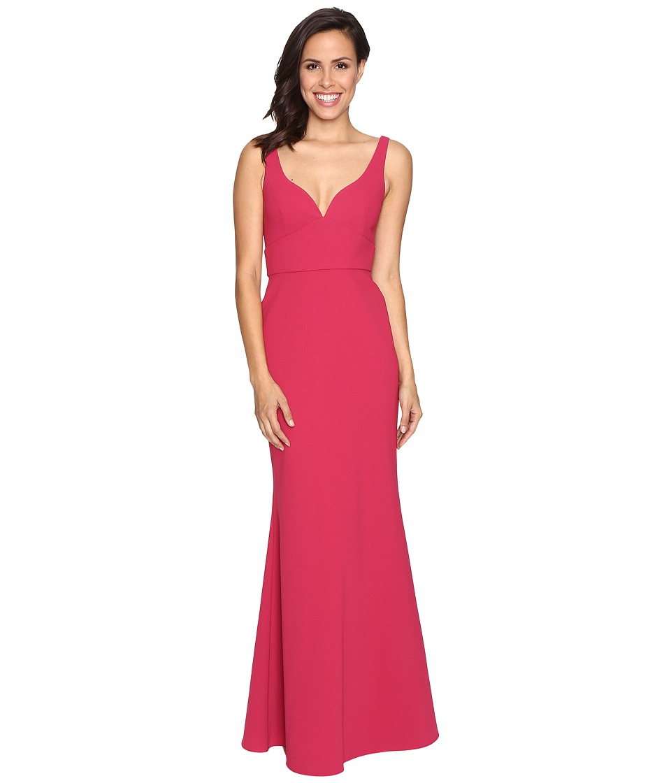 JILL JILL STUART - Solid Elastane Gown (Wild Rose) Women's Dress