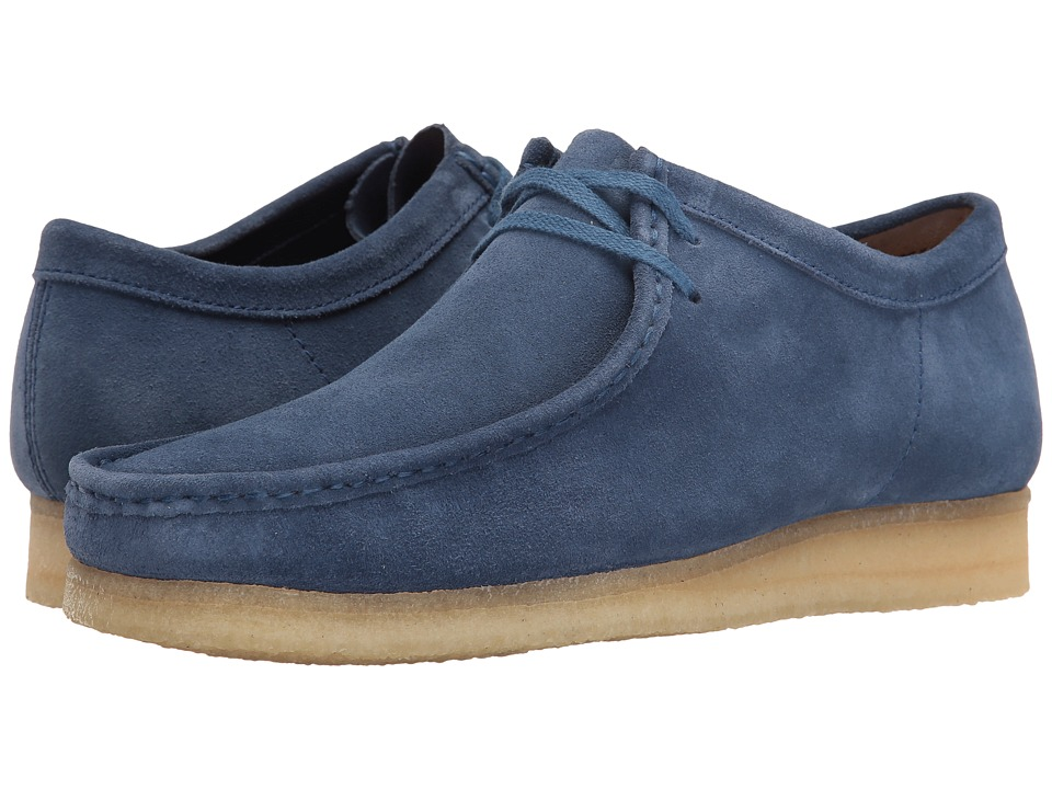Clarks - Wallabee (Night Blue Suede) Men's Lace up casual Shoes