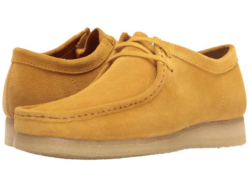 Clarks - Wallabee (Ochre Suede) Men's Lace up casual Shoes