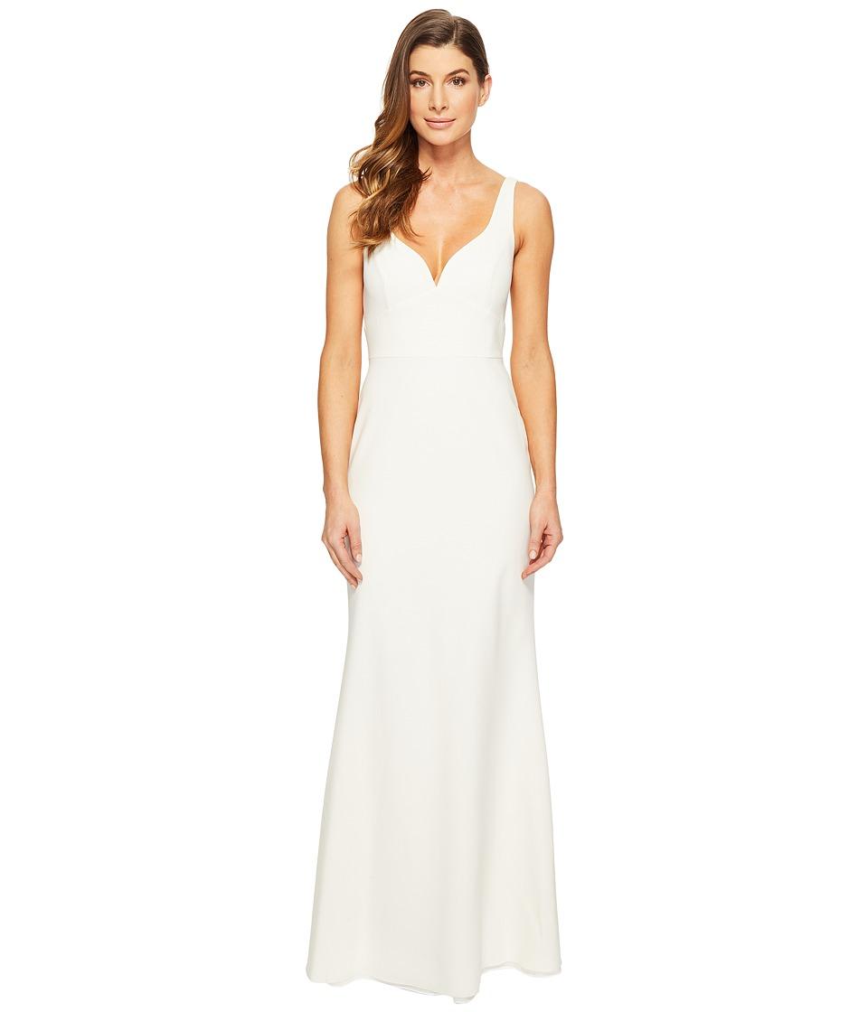 JILL JILL STUART Solid Elastane Gown with Lining (Off-White) Women