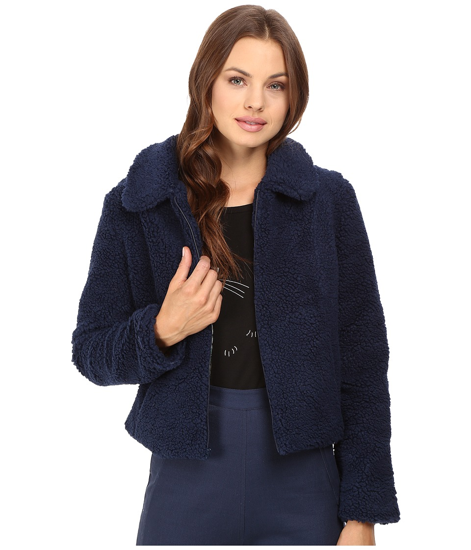 Samantha Pleet - Sheep Jacket (Navy) Women's Coat
