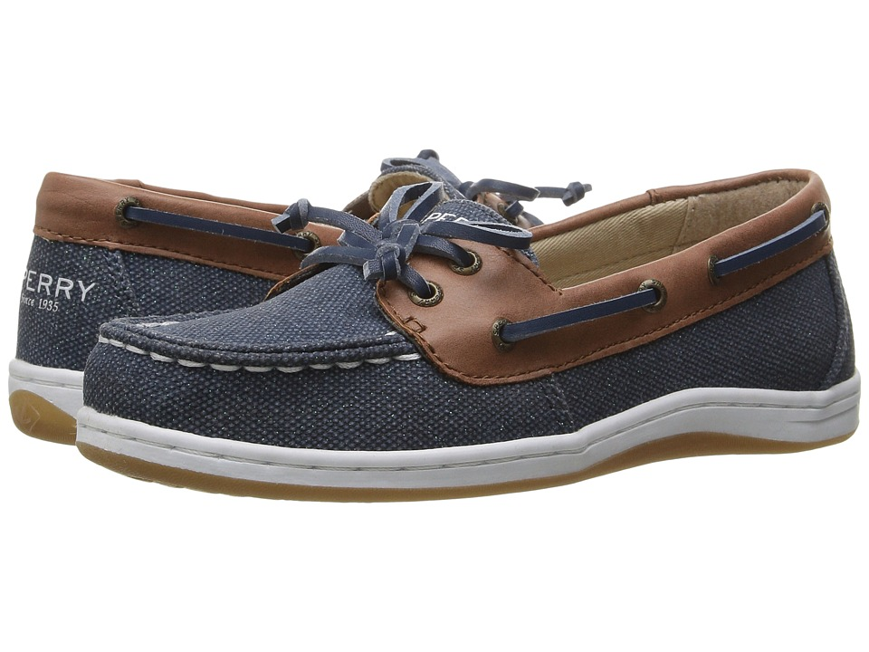 Sperry Kids - Firefish (Little Kid/Big Kid) (Navy Sparkle) Girl's Shoes