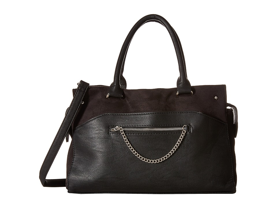 Madden Girl - Mgbuzzer Satchel (Black) Satchel Handbags