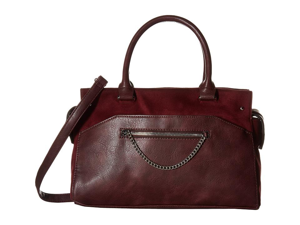 Madden Girl - Mgbuzzer Satchel (Burgundy) Satchel Handbags