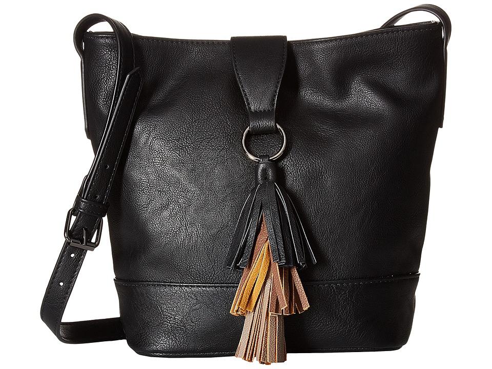 Madden Girl - Mgbuckie Crossbody (Black) Cross Body Handbags