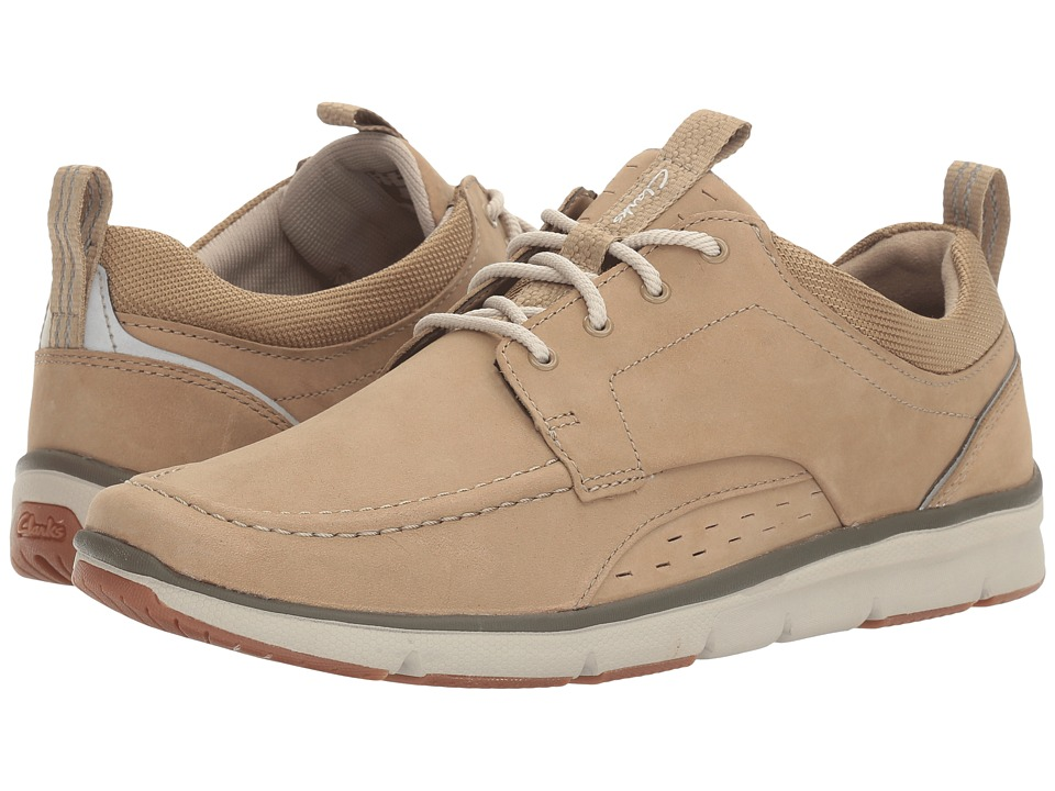 Clarks - Orson Bay (Sand Nubuck) Men's Shoes