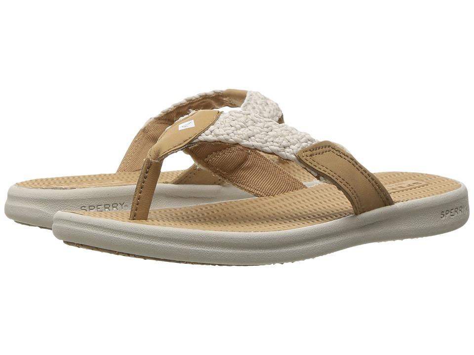 Sperry Kids - Seacove (Little Kid/Big Kid) (Linen/White) Girls Shoes