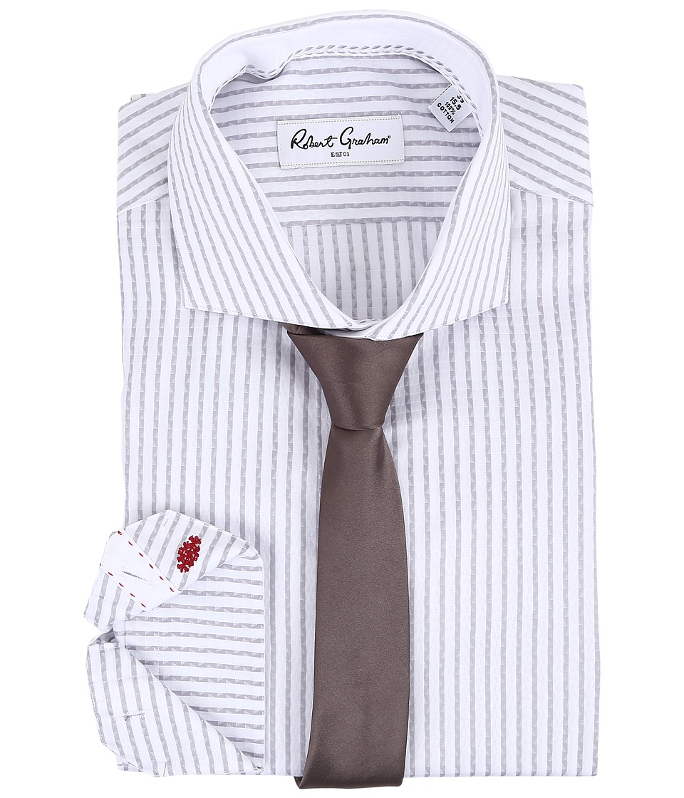 Robert Graham - Benjamin Dress Shirt (Grey) Men's Long Sleeve Button Up