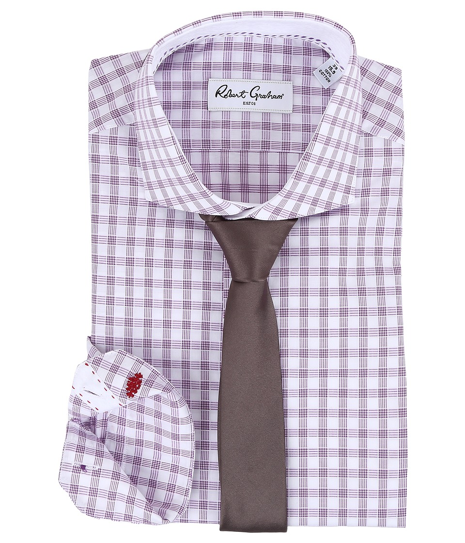 Robert Graham - Mimo Dress Shirt (Lavender) Men's Long Sleeve Button Up