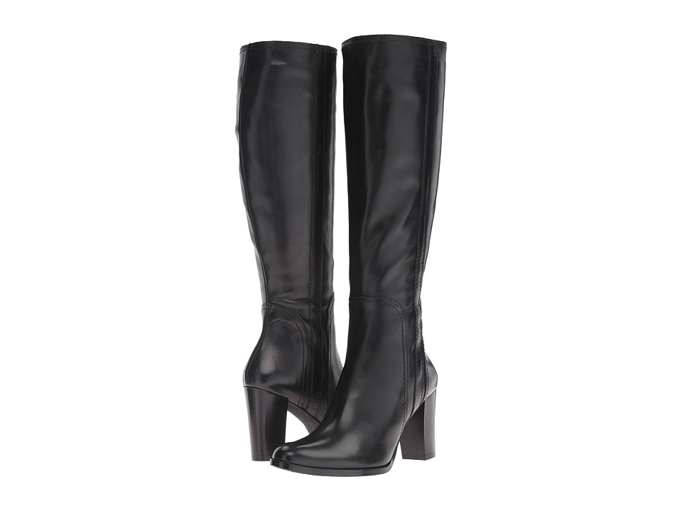 Massimo Matteo - Side Zip Heel Boot 16 (Black) Women's Zip Boots