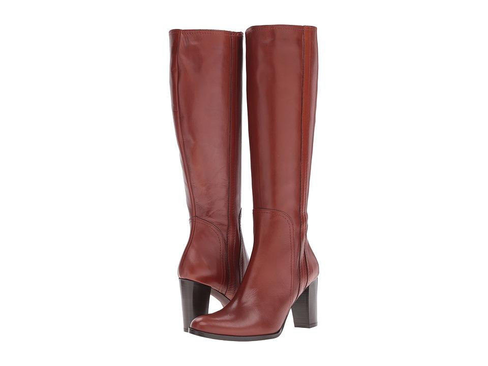 Massimo Matteo - Side Zip Heel Boot 16 (Cuoio) Women's Zip Boots