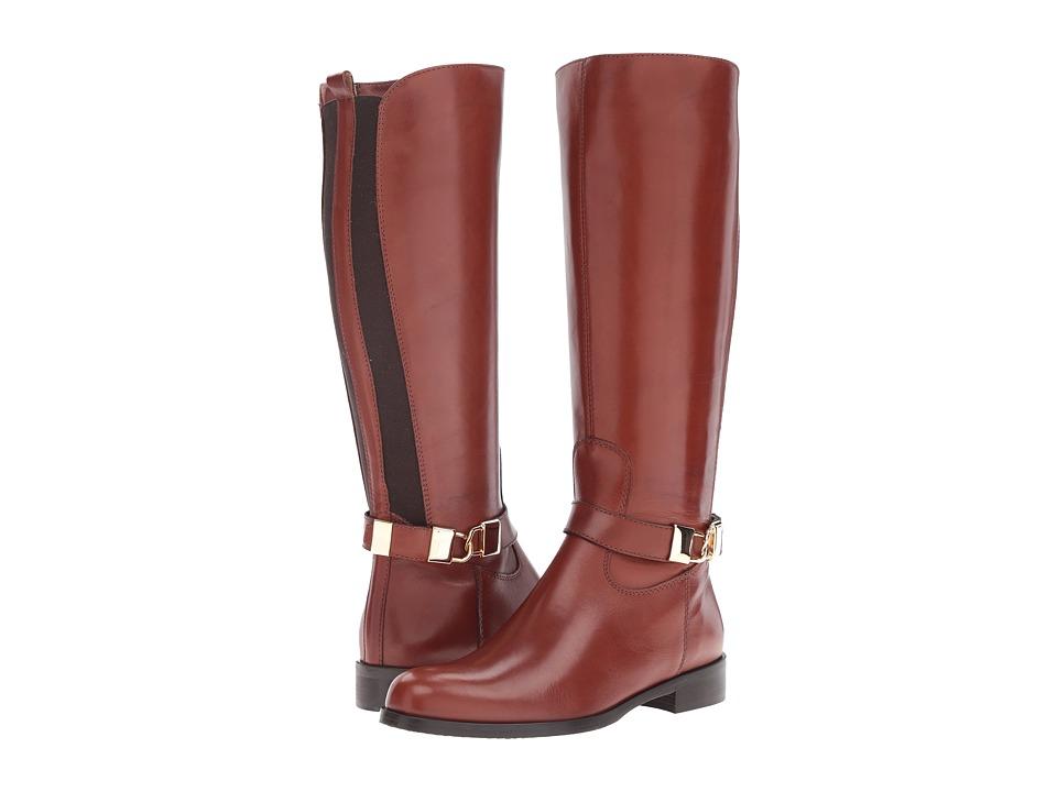 Massimo Matteo Flat Calf Locket Boot (Cuoio) Women