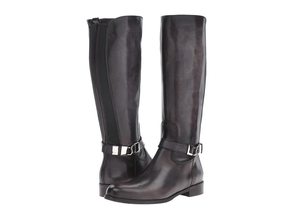 Massimo Matteo - Flat Calf Locket Boot (Black) Women's Boots