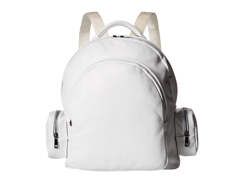 Gold & Gravy - Leather Backpack (White) Backpack Bags