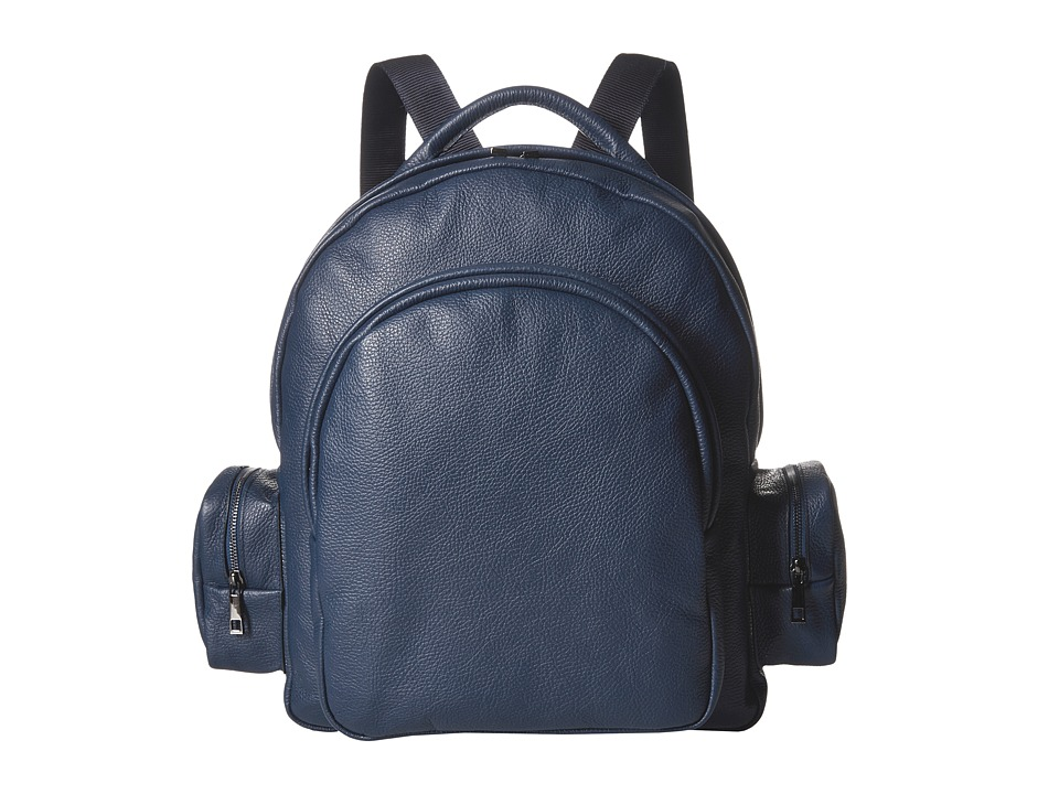 Gold & Gravy Leather Backpack (Navy) Backpack Bags