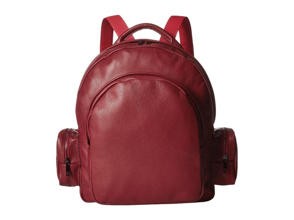 Gold & Gravy - Leather Backpack (Red) Backpack Bags