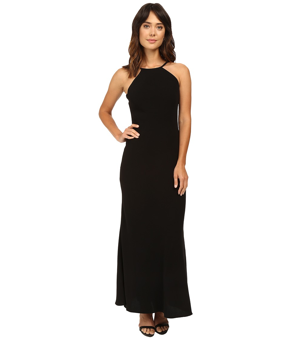 Calvin Klein - Halter Neck Back Less Gown CD6B1850 (Black) Women's Dress
