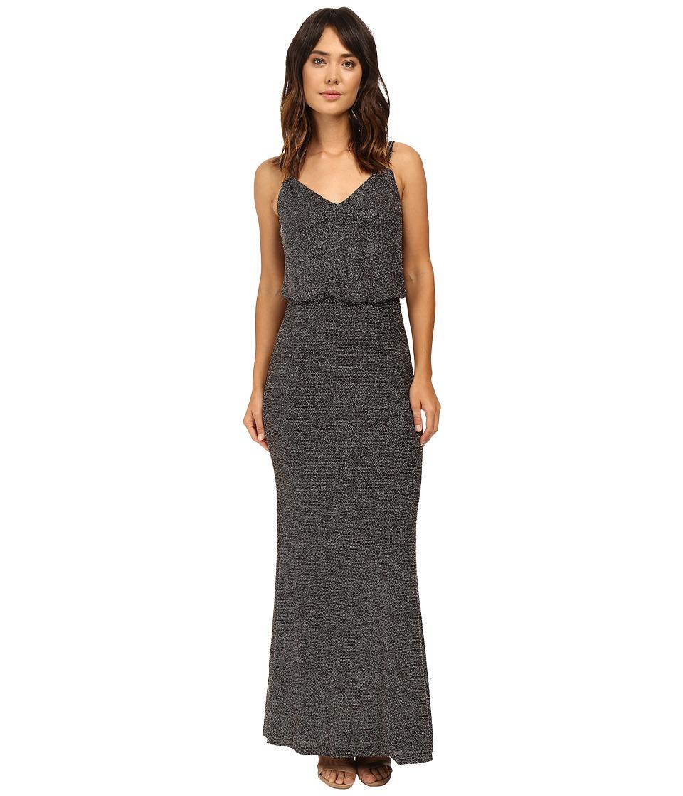 Calvin Klein Novelty Jersey Gown CD6B1P7E (Black Multi) Women