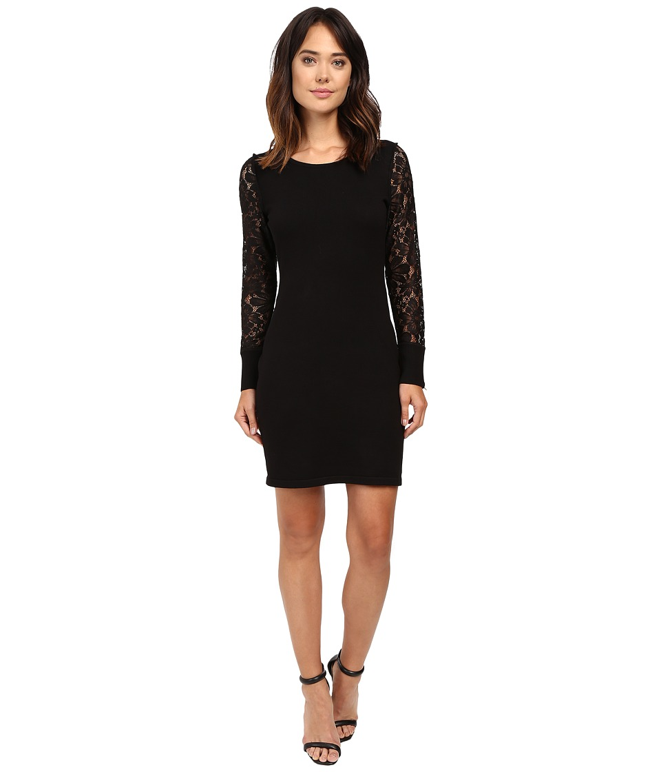Calvin Klein - Lace Sleeve Sweater CD6W1673 (Black) Women's Dress
