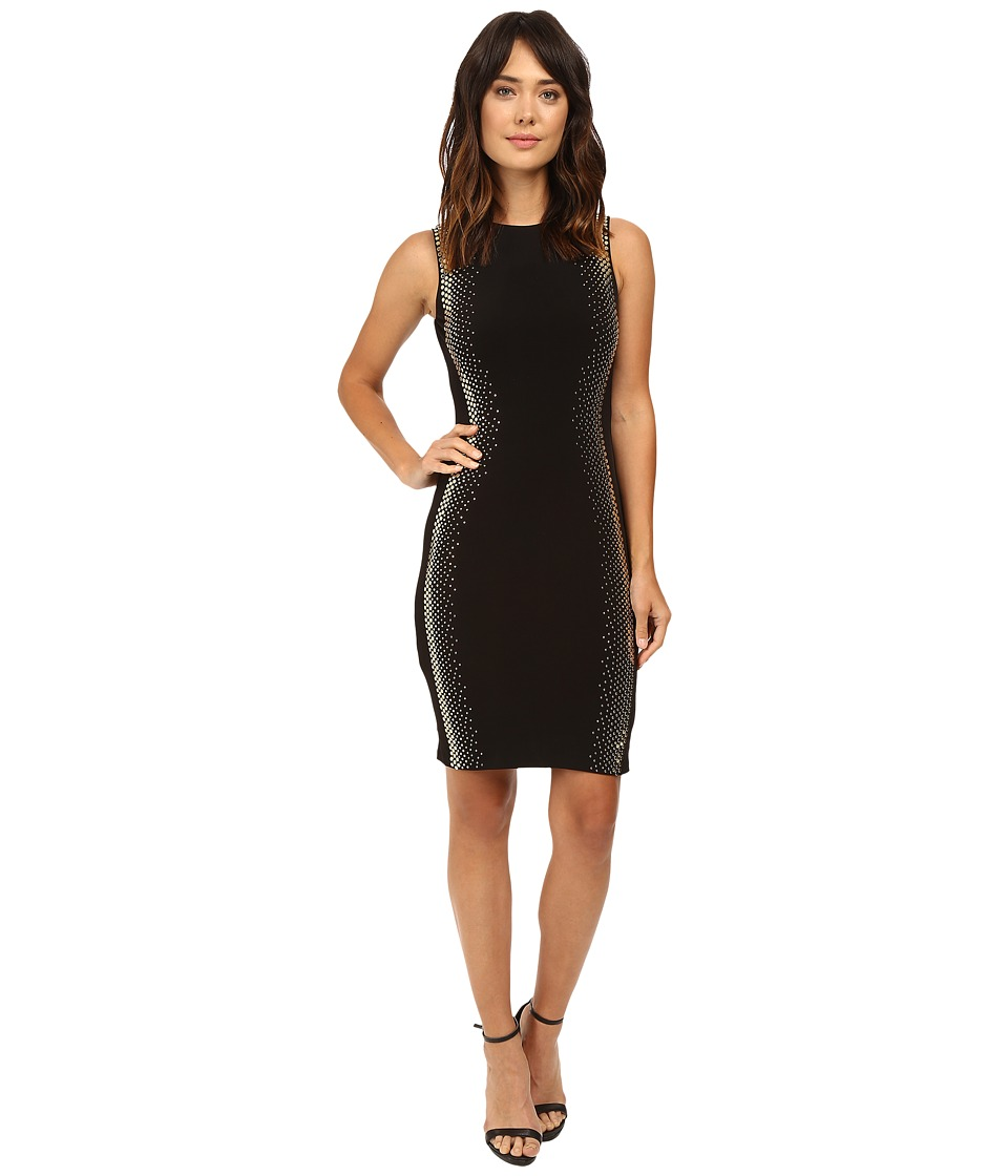 Calvin Klein - Sleeveless Sheath Dress with Hot Fix Details CD6A1813 (Black) Women's Dress