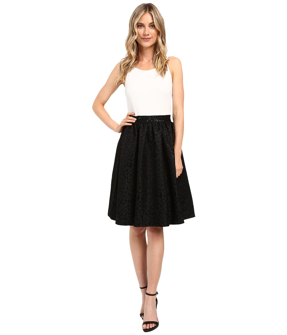 Calvin Klein Halter Neck Fit and Flare Dress CD6B2524 (Winter White/Black) Women