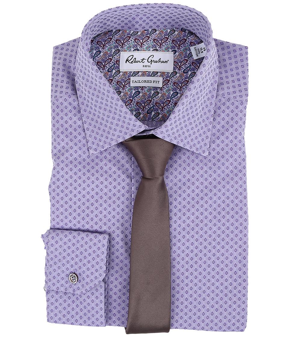 Robert Graham - Arqua Dress Shirt (Purple) Men's Long Sleeve Button Up
