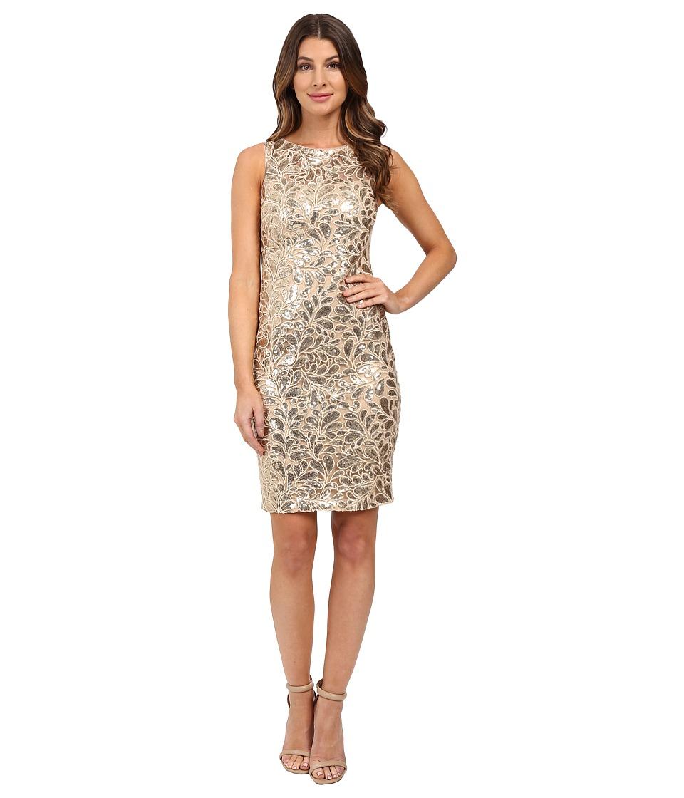 Calvin Klein - Sequin Sheath CD6B7V2Y (Gold) Women's Dress