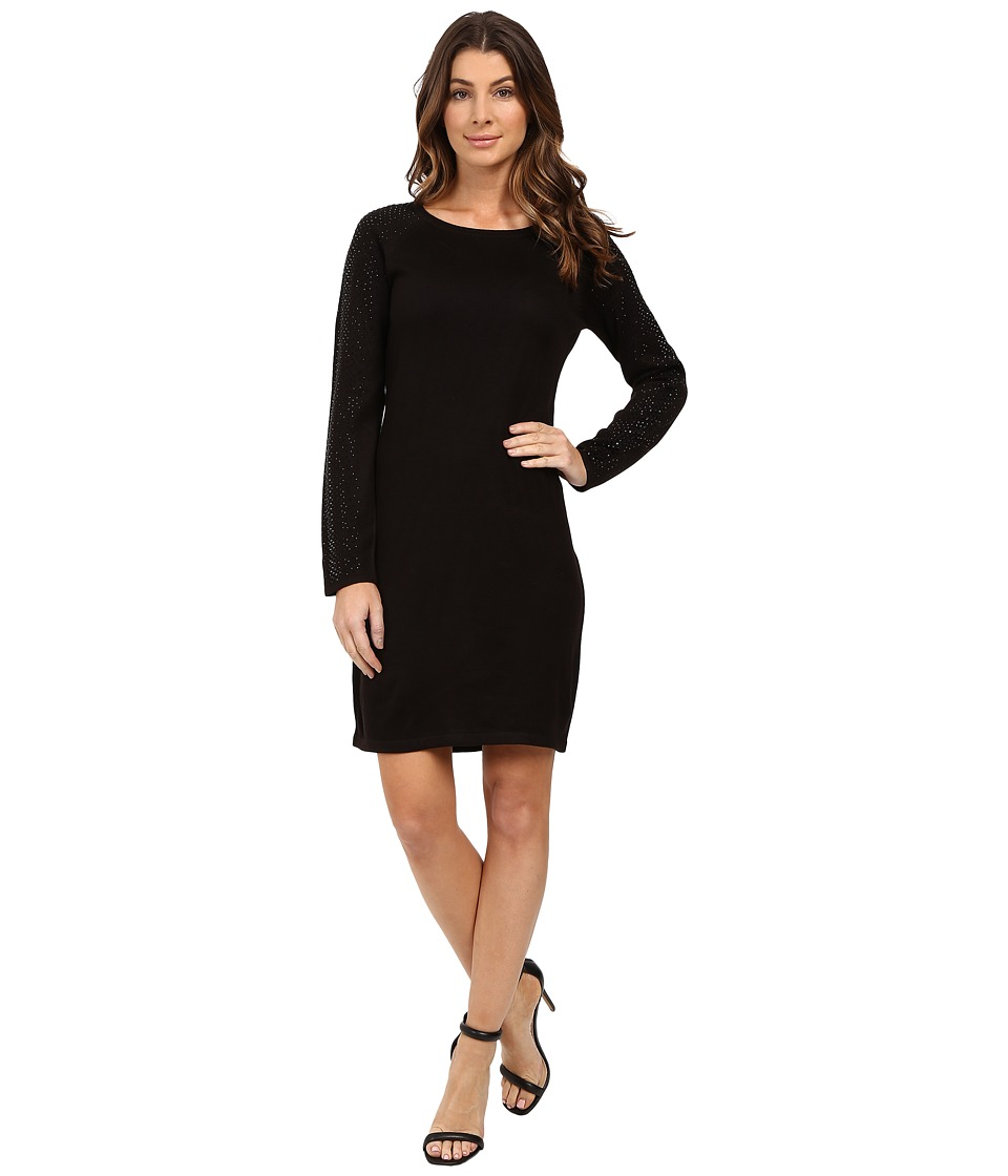 Calvin Klein - Long Sleeve Sweater with Hot Fix CD6W1181 (Black) Women's Dress