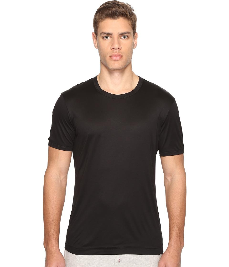Dolce & Gabbana - Polka Dot Silk Modal Round Neck Tee (Black) Men's T Shirt