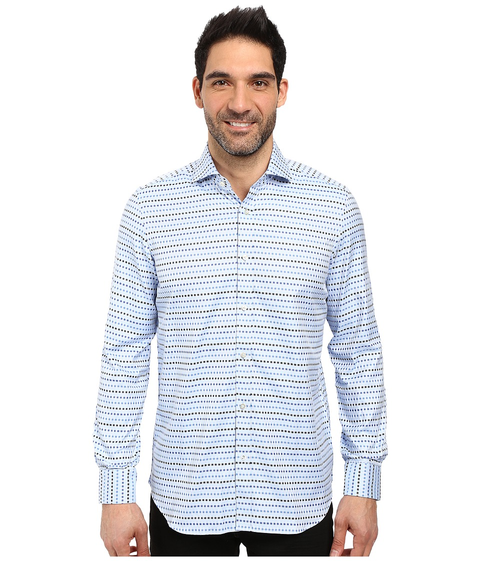 Robert Graham - Sal Dress Shirt (Blue) Men's Long Sleeve Button Up