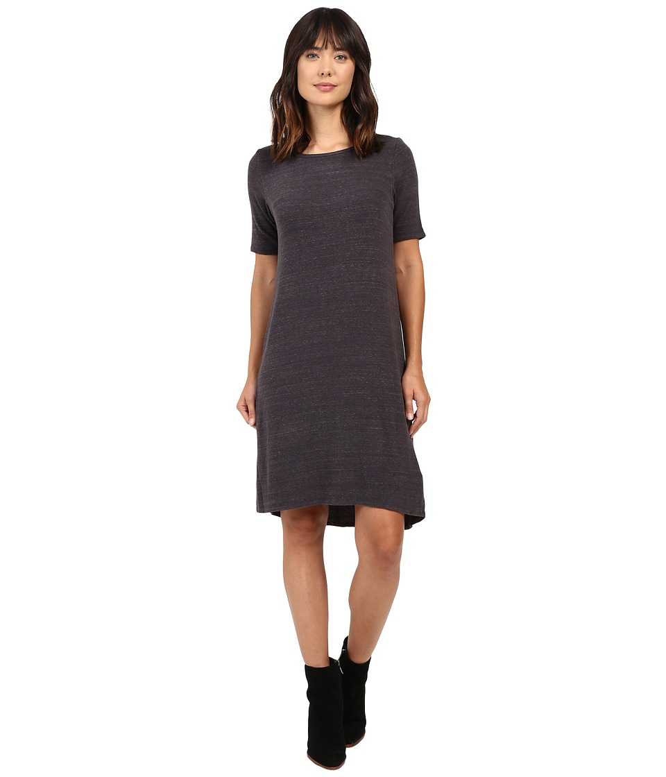 Allen Allen Short Sleeve Dress (Deep Grey) Women